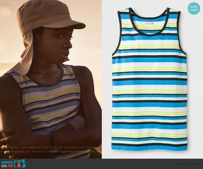 Stripe Tank Top by Cat & Jack at Target worn by Lucas (Caleb McLaughlin) on Stranger Things
