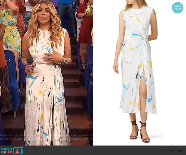 Fantasy Print Dress by Cendric Charlier worn by Wendy Williams  on The Wendy Williams Show