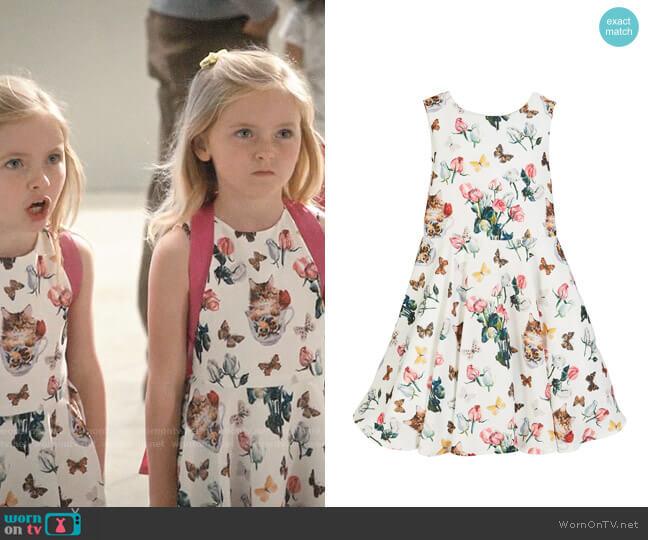 Charabia Mixed Floral Print Sleeveless Dress