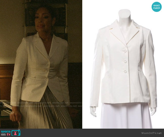 Christian Dior Structured Notched Lapel Blazer worn by Jessica Pearson (Gina Torres) on Pearson
