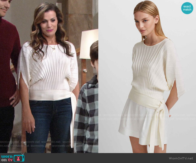 Club Monaco Armadilla Merino Sweater worn by Chelsea Lawson (Melissa Claire Egan) on The Young & the Restless