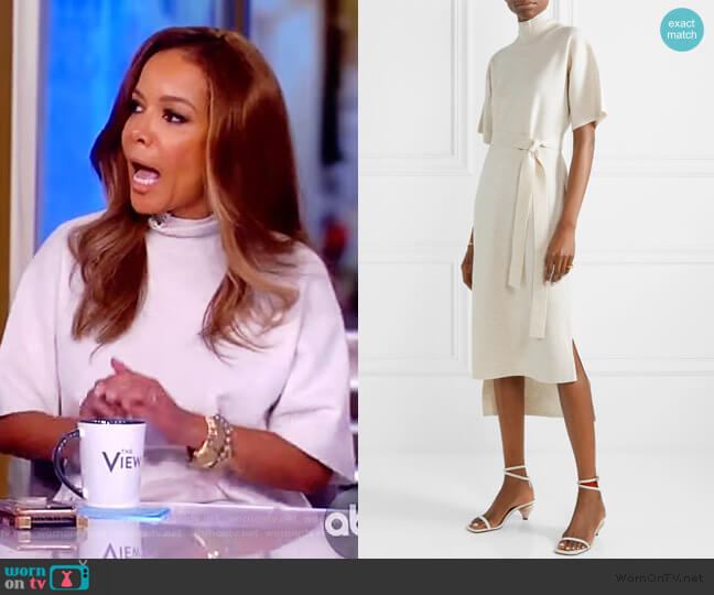 Short-Sleeve Mock-Neck Sweater Dress by Co worn by Sunny Hostin  on The View