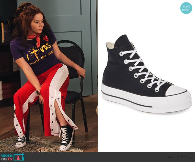Chuck Taylor High Platform Sneakers by Converse worn by Jade (Talia Jackson) on Family Reunion
