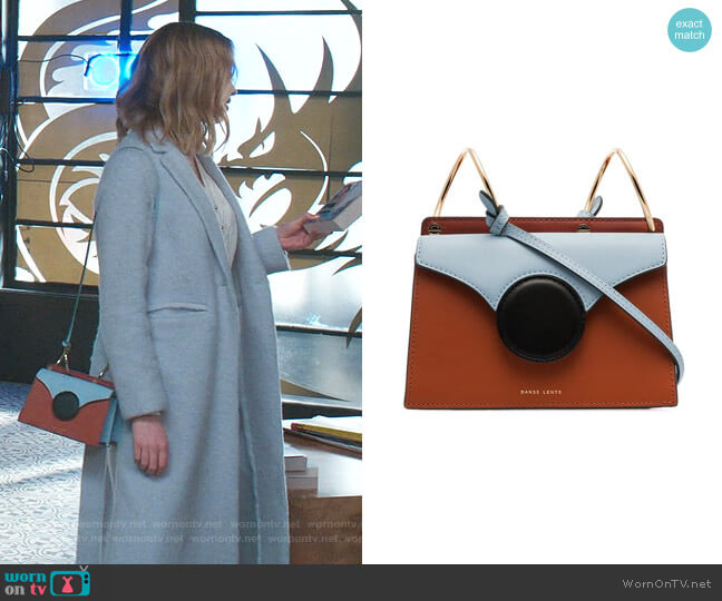 Phoebe Mini Leather Crossbody Bag by Danse Lente worn by Phoebe Dynevor on Younger