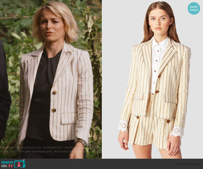Cropped Blazer by Derek Lam 10 Crosby worn by Lizzie Needham (Bojana Novakovic) on Instinct