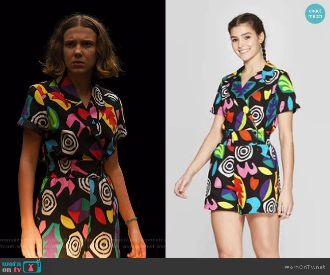 Eleven Short Sleeve Romper by Target worn by Eleven (Millie Bobby Brown) on Stranger Things