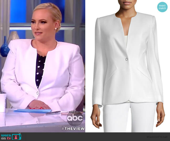 Allegra Front-Snap Jacket by Elie Tahari worn by Meghan McCain  on The View