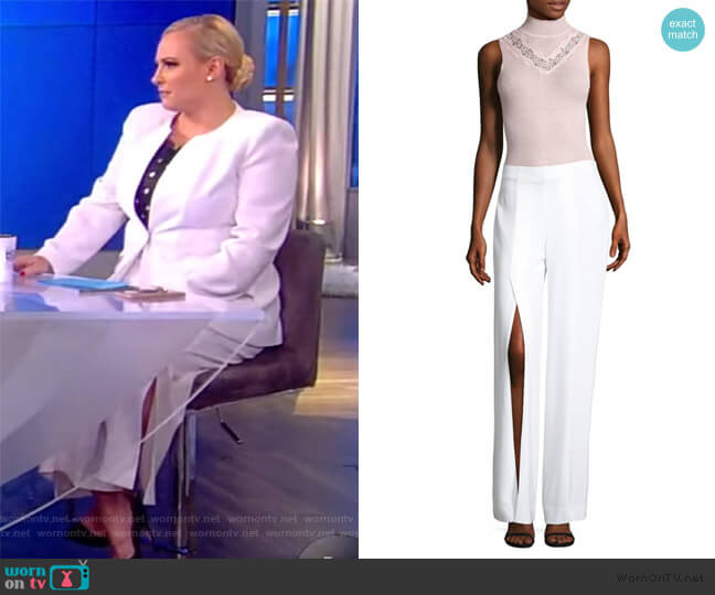 Slit Wide-Leg Pants by Elie Tahari worn by Meghan McCain  on The View