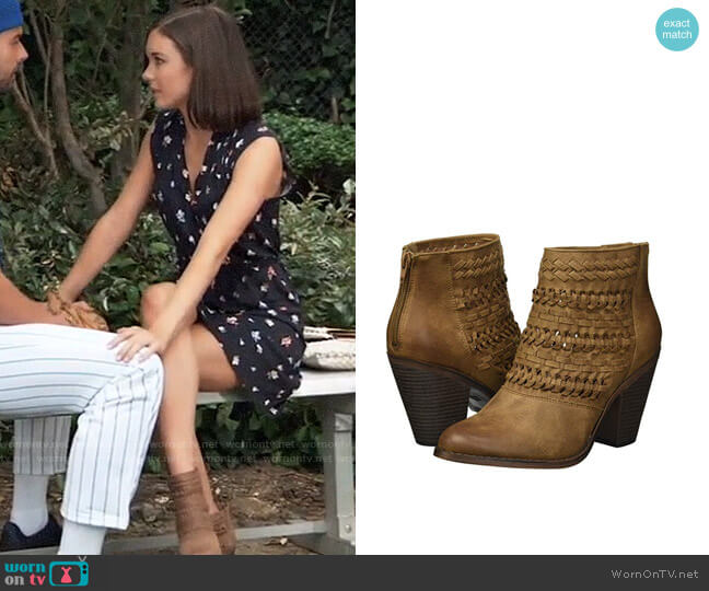 Fergalicious Wanderer Braided Boots worn by Willow Tait (Katelyn MacMullen) on General Hospital