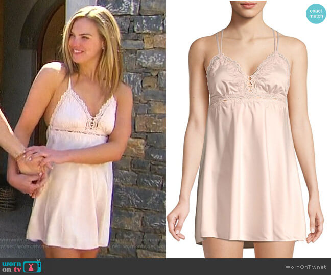 Othela Charmeuse Chemise by Flora Nikrooz worn by Hannah Brown  on The Bachelorette