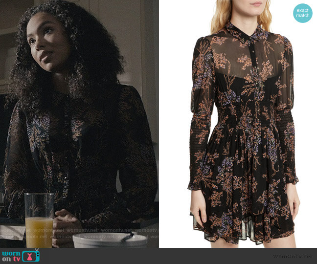 Fake Pretend Babydoll Dress by Free People worn by Olivia Reynolds (Jessica Sula) on Scream