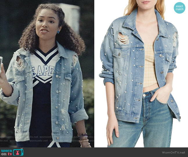 Sunday Funday Trucker by Free People worn by Olivia Reynolds (Jessica Sula) on Scream