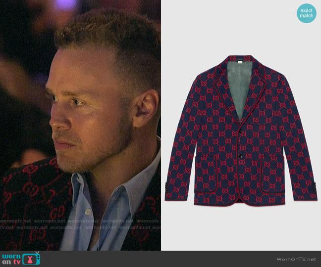 Gucci GG Jersey Formal Jacket worn by Spencer Pratt  on The Hills New Beginnings