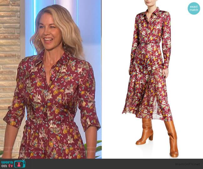 Jane Mythical Print Shirtdress by Gabriela Hearst worn by Jenna Elfman on The Talk