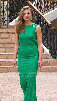 Hannah's green gown on The Bachelorette