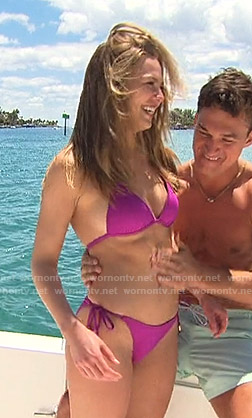 Hannah's purple bikini on The Bachelorette