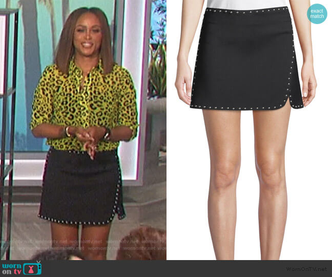 Studded Miniskirt by Helmut Lang worn by Eve  on The Talk