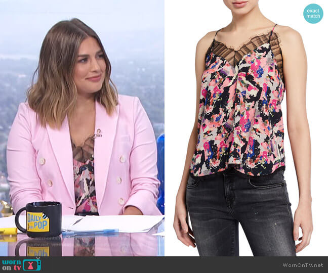 Berwyn Printed Cami by IRO worn by Carissa Loethen Culiner  on E! News