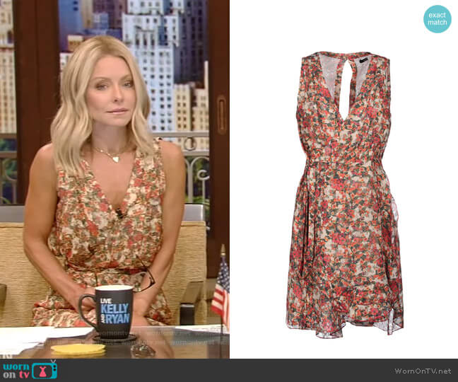 Floral Short Dress by Isabel Marant worn by Kelly Ripa  on Live with Kelly & Ryan