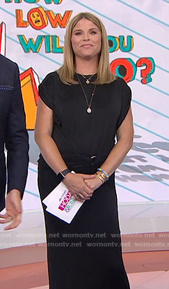 Jenna's black wrap waist dress on Today