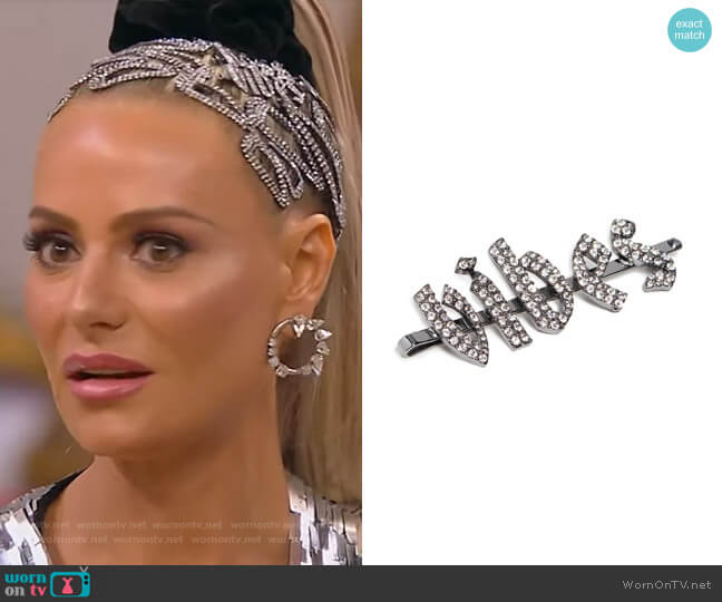Rhinestone Gothic Vibes Barrette by Kitsch x Justine Marjan worn by Dorit Kemsley  on The Real Housewives of Beverly Hills