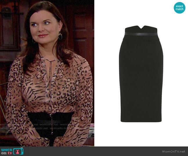 Karen Millen High-Waisted Pencil Skirt worn by Katie Logan (Heather Tom) on The Bold & the Beautiful