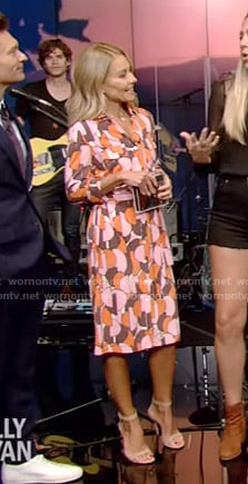 Kelly's printed shirtdress on Live with Kelly and Ryan
