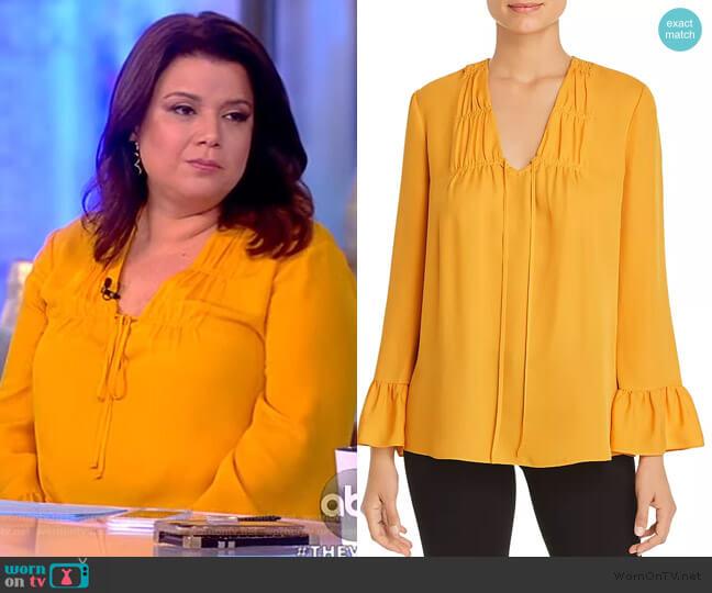 Mia Tie-Front Silk Blouse by Kobi Halperin worn by Ana Navarro  on The View