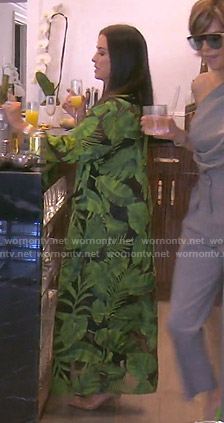 Kyle's leaf print kimono on The Real Housewives of Beverly Hills