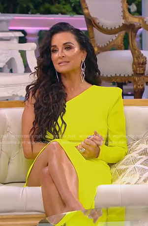 Kyle's yellow one-shoulder gown on The Real Housewives of Beverly Hills