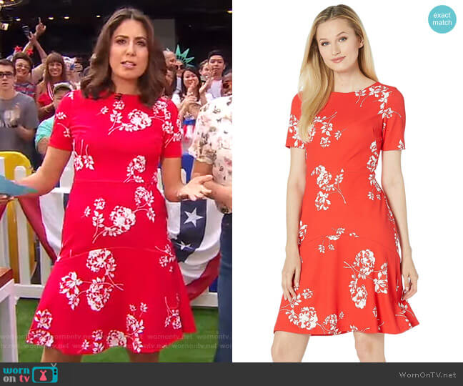 Baba Payson Floral Dress by LAUREN Ralph Lauren worn by Cecilia Vega  on Good Morning America