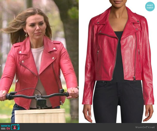 Leather Biker Jacket by LaMarque worn by Hannah Brown  on The Bachelorette