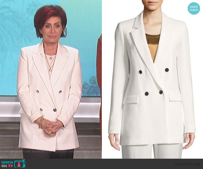 Britton Blazer by Lafayette 148 New York worn by Sharon Osbourne  on The Talk