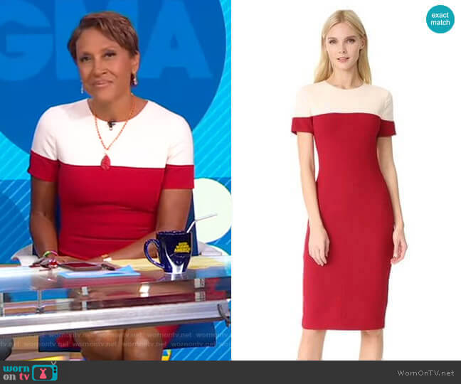 Layne Sheath Dress by Black Halo worn by Robin Roberts  on Good Morning America
