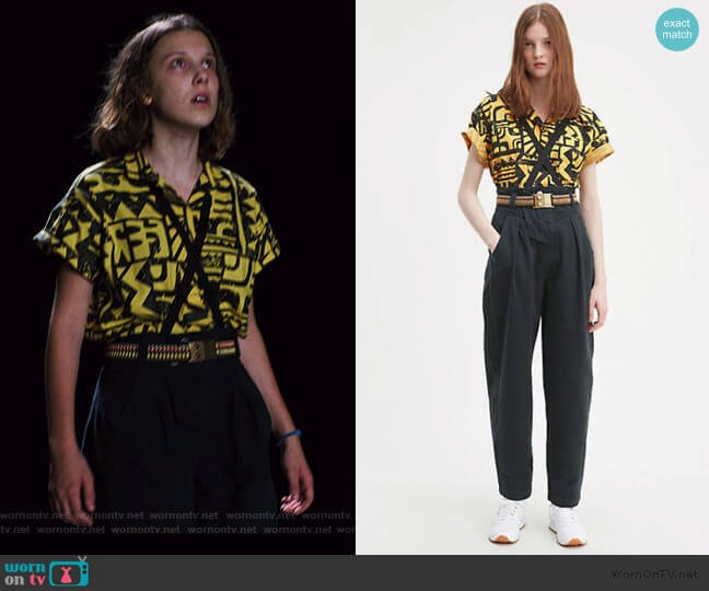X Stranger Things El Pleated Jeans by Levis worn by Eleven (Millie Bobby Brown) on Stranger Things