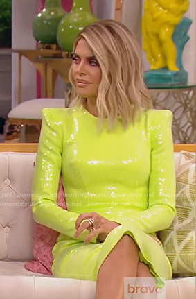 Lisa's sequin sheath dress on The Real Housewives of Beverly Hills
