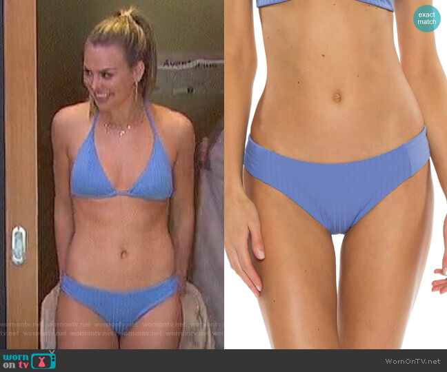 Loreto Ribbed Bikini Bottoms by Becca worn by Hannah Brown  on The Bachelorette