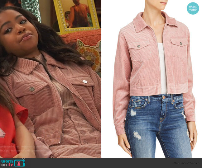 Corduroy Jacket by Lost + Wander worn by Nia Baxter (Navia Robinson) on Ravens Home