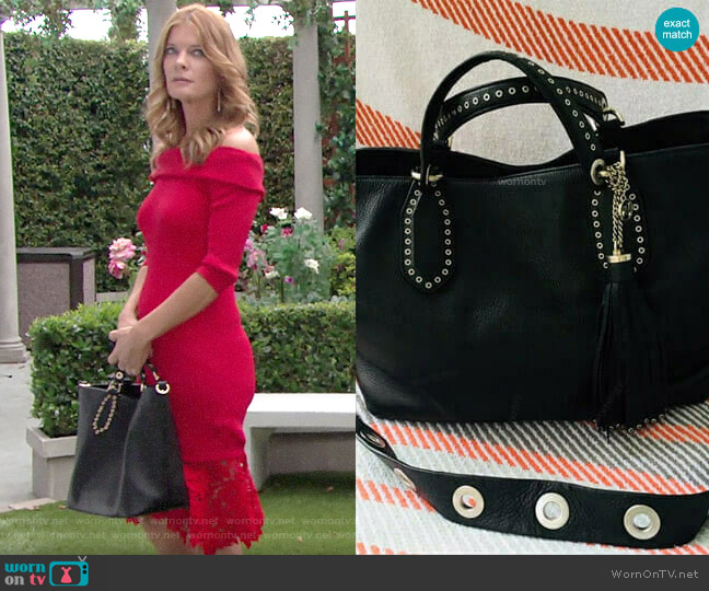MICHAEL Michael Kors Brooklyn Tote worn by Phyllis Summers (Michelle Stafford) on The Young & the Restless