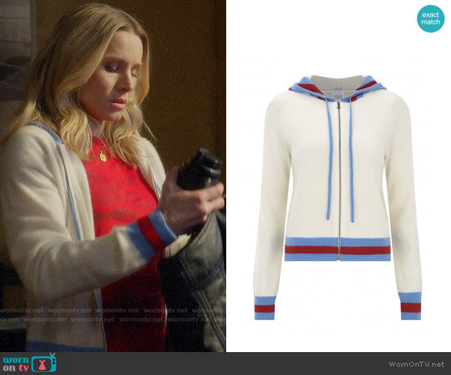 Madeleine Thompson Aqua Hoodie worn by Veronica Mars (Kristen Bell) on Veronica Mars