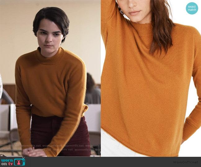 Mock Neck Cashmere Sweater by Madewell worn by Elodie Davis (Brianna Hildebrand) on Trinkets