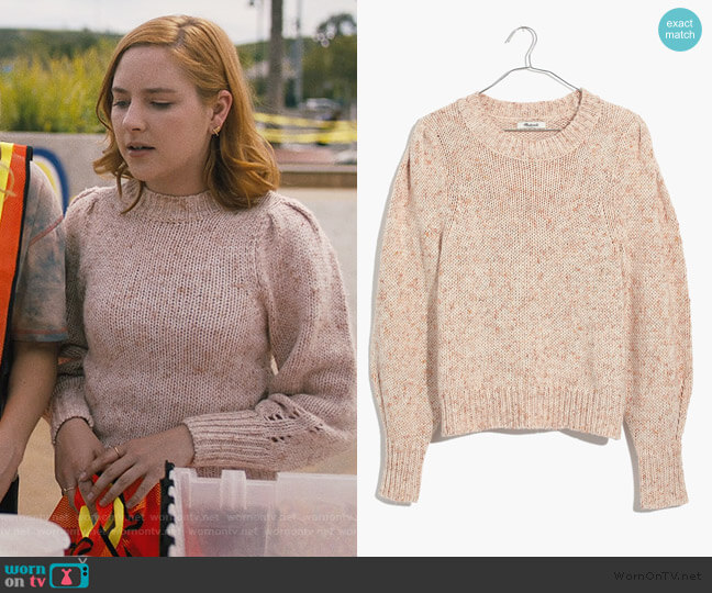 Pleat-Shoulder Pullover Sweater by Madewell worn by Violet Simmons (Haley Ramm) on Light as a Feather