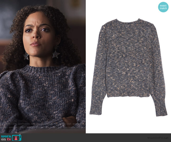 Pleat Shoulder Pullover Sweater by Madewell worn by Tabitha Foster (Quintessa Swindell) on Trinkets