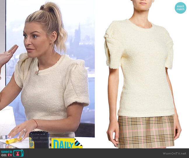 Knotted Short-Sleeve Top by Maggie Marilyn worn by Morgan Stewart  on E! News