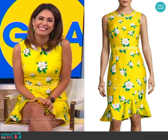 Magnolia Ruffle Shift Dress by Draper James worn by Cecilia Vega  on Good Morning America