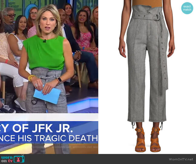 Isadora Houndstooth Pants by Marissa Webb worn by Amy Robach  on Good Morning America