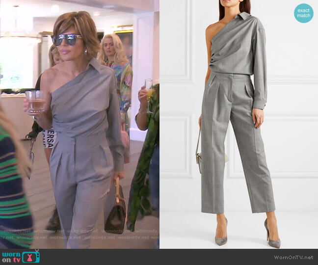 Pepaia Top and Festa Cropped Pants by Max Mara worn by Lisa Rinna  on The Real Housewives of Beverly Hills