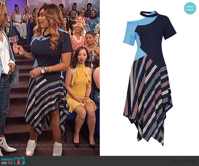 Deconstructed Jersey Tee Dress by Monse worn by Wendy Williams  on The Wendy Williams Show