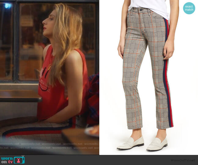 The Insider Plaid Ankle Pants by Mother worn by Nomi Segal (Emily Arlook) on Grown-ish