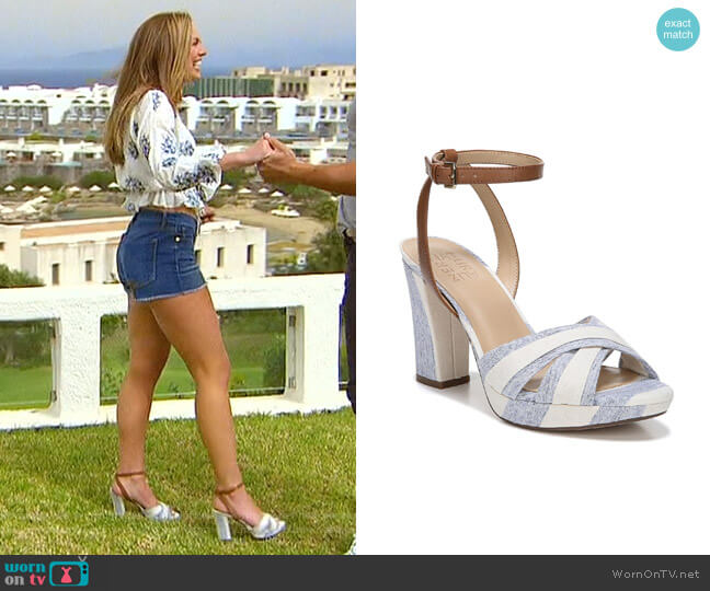 Avril Ankle Strap Sandal by Naturalizer worn by Hannah Brown  on The Bachelorette